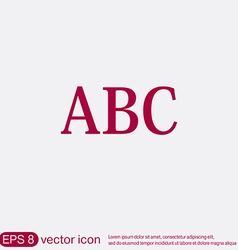 Letters of the alphabet Icon learning school vector image vector image