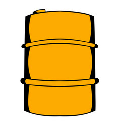 Metal barrel icon cartoon vector