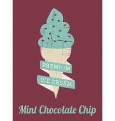 Mint Ice Cream Poster vector image