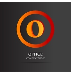 O Letter logo abstract design vector image vector image