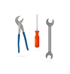 Screwdriver Pincers Spanner Hand Wrench Tools vector image vector image