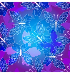 Seamless dark violet pattern vector image vector image