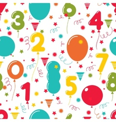 Seamless pattern of birthday party balloons vector image