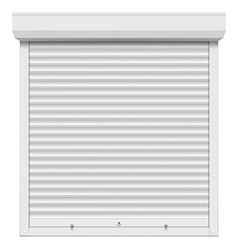 Shutters isolated on white background vector image vector image