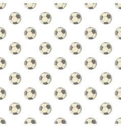 Soccer ball pattern cartoon style vector image vector image
