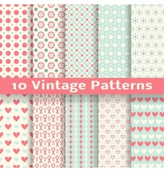 Vintage fashionable seamless patterns tiling vector