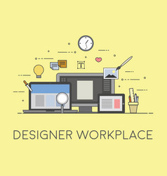 web and mobile design and developing designer vector image vector image