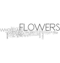 Wholesale flowers text word cloud concept vector