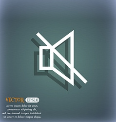 Without sound mute icon symbol on the blue-green vector