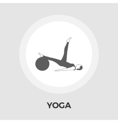 Yoga flat icon vector image vector image