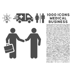 Contract icon with 1000 medical business symbols vector