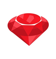 Ruby red jewelry vector