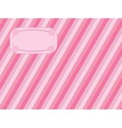 Pink stripes background vector