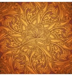 Ethnic round ornament vector image