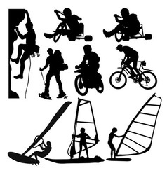 Extreme sports silhouette vector