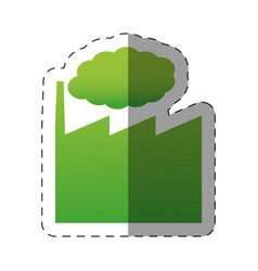 green building factory environment vector image
