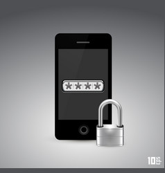phone is locked vector image