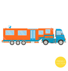 cartoon transport campervan vector image