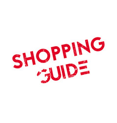 Shopping guide rubber stamp vector