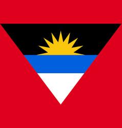 flag antigua barbuda flat icon vector image