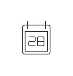 Date and time calendar thin line icon linear vector