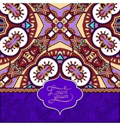 Unusual violet colour floral ornamental template vector