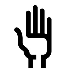 Hand logo design template vote or consent vector