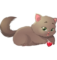 Beautiful kitten vector