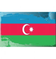 azerbaijan national flag vector image