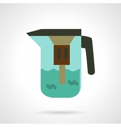 Water jug with filter icon vector
