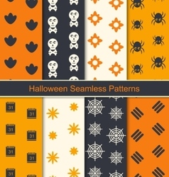 Seamless textures for happy halloween vector