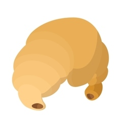 Croissant icon cartoon style vector