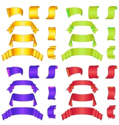 Banners ribbons and scrolls big set vector image