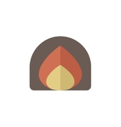 Fire fire flat style icon vector