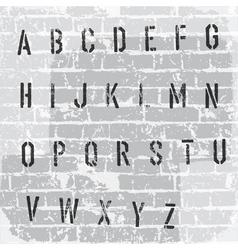 Stencil grunge font vector