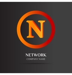 N letter logo abstract design vector