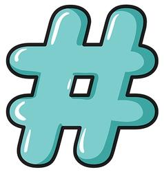 A hash symbol vector