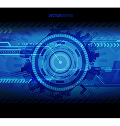 Abstract blue technology with place for your text vector image vector image