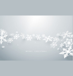 abstract snowflakes on white background vector image vector image