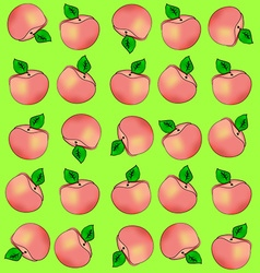 Background of peaches vector image vector image