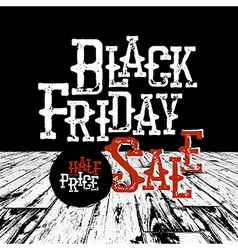 Black friday typography retro styled design vector