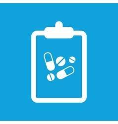 Drug prescription icon simple vector