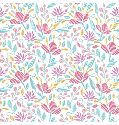 Emboridered garden seamless pattern background vector image