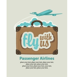 fly with us vector image