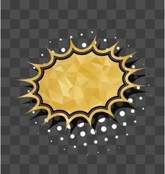 Gold sparkle comic star text bubble vector