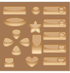 Golden buttons vector