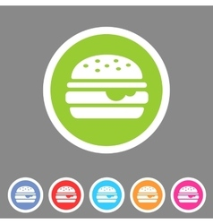 Hamburger burger icon flat web sign symbol logo vector