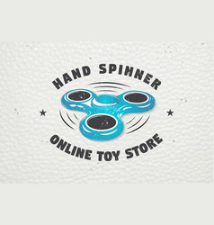 Hand fidget spinner stress relief toys detailed vector