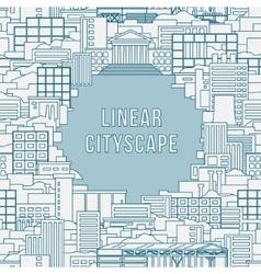 Linear cityscape 1 vector