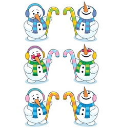 little snowman vector image vector image